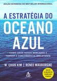 Capa do livro A estratégia do oceano azul: Como criar novos mercados e tornar a concorrência irrelevante.